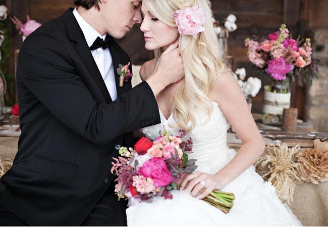 valentine bride and groom
