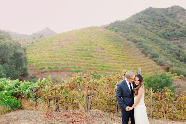 sadlerock cattle ranch groom and bride  A Glamping Wedding Among Redwoods saddlerock wedding 01