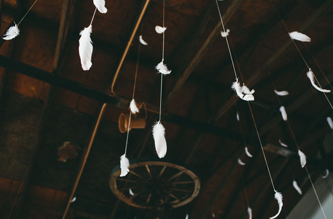 hanging feathers