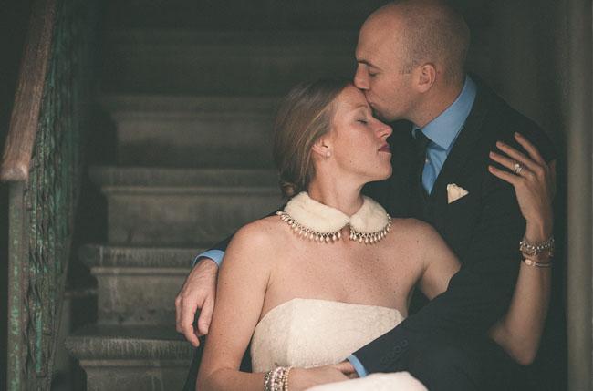 fur bridal collar