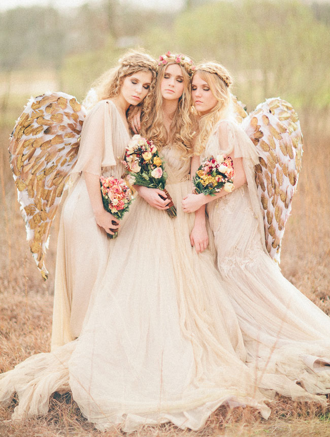 angelic bridesmaids