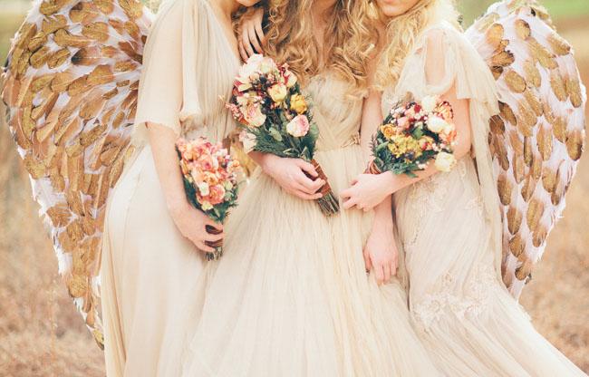 angelic bridesmaids