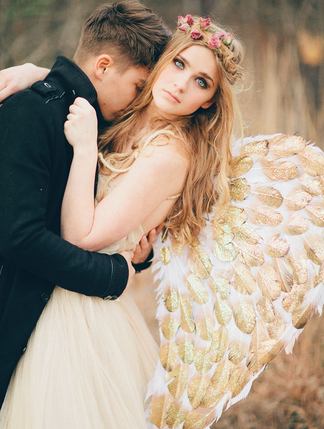 Angel inspired wedding for Angel wings wedding dress