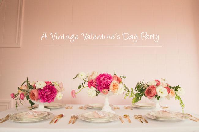 valentines day party - Vintage Valentines Day