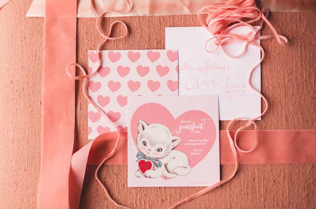 kitten heart invitation