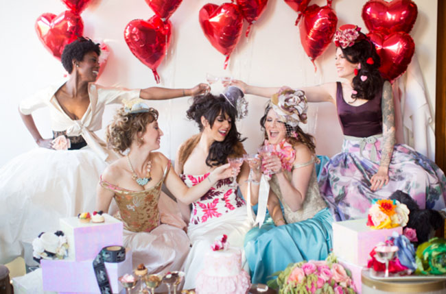 72d27db5362 Valentine s Day Bridal Shower + Punk Marie Antoinette