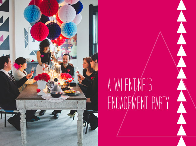 valentines engagement party
