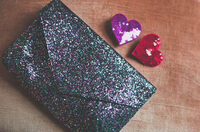sequined hearts