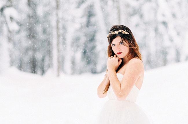 snowy bride