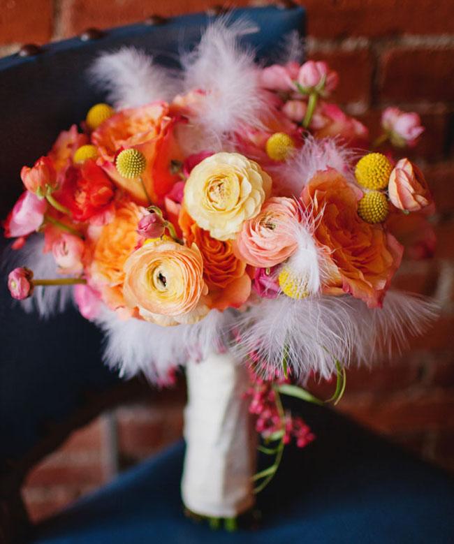 peach and orange bouquet