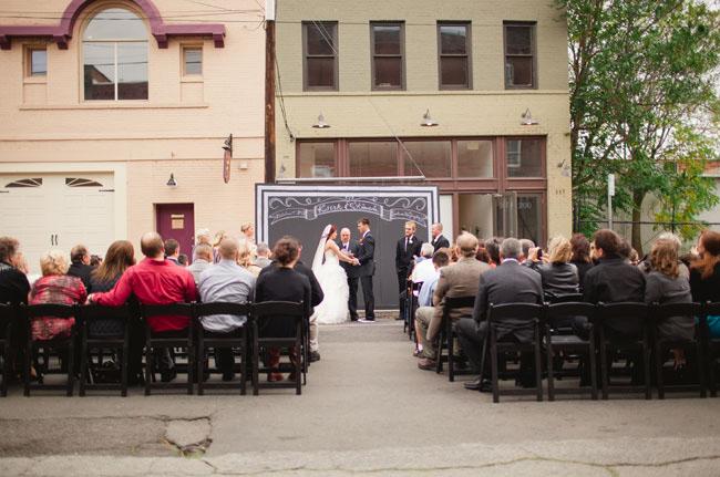 chalkboard ceremony backdrop