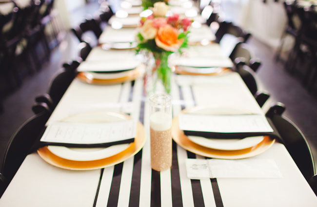 striped table runners