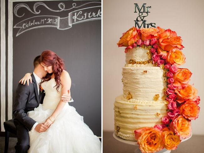 caascading flower cake