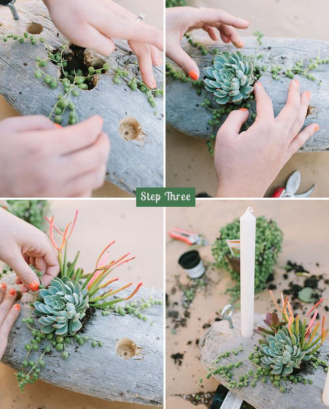 Flower Arrangement Using Driftwood: DIY: Driftwood Candelabra