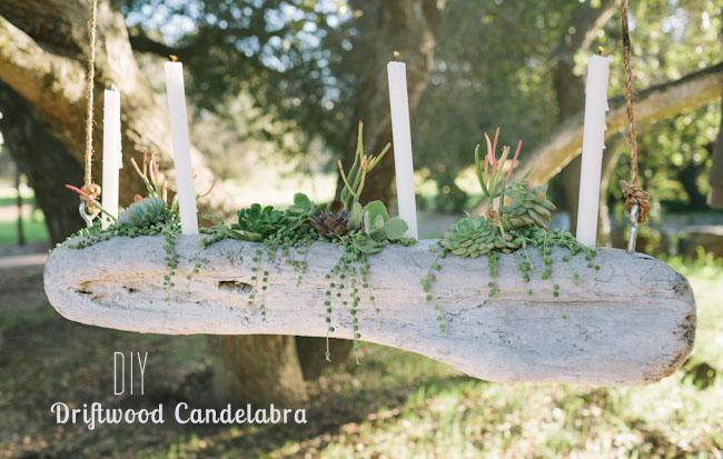 DIY Driftwood Candelabra
