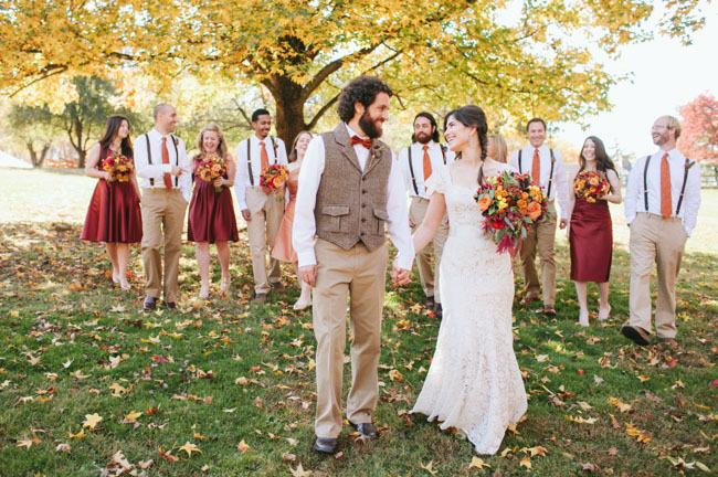 Fall Bouquet Bride Wedding Party