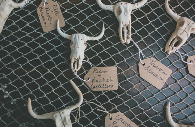 steer skull escort cards