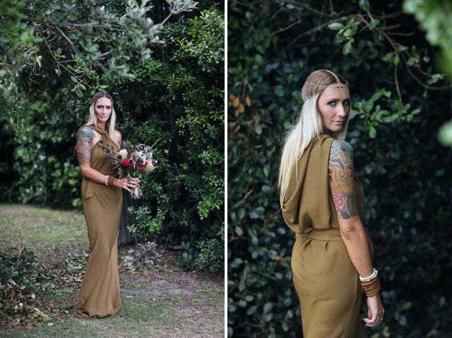 olive green wedding dress