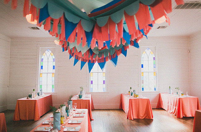 tissue paper bunting