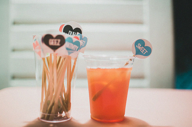 heart drink sticks