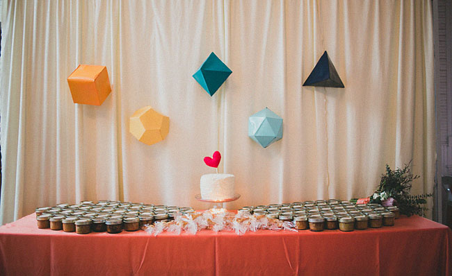 geometric dessert bar