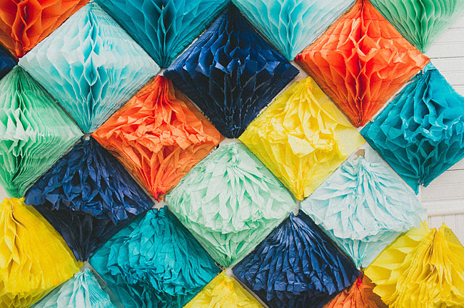 tissue paper triangles
