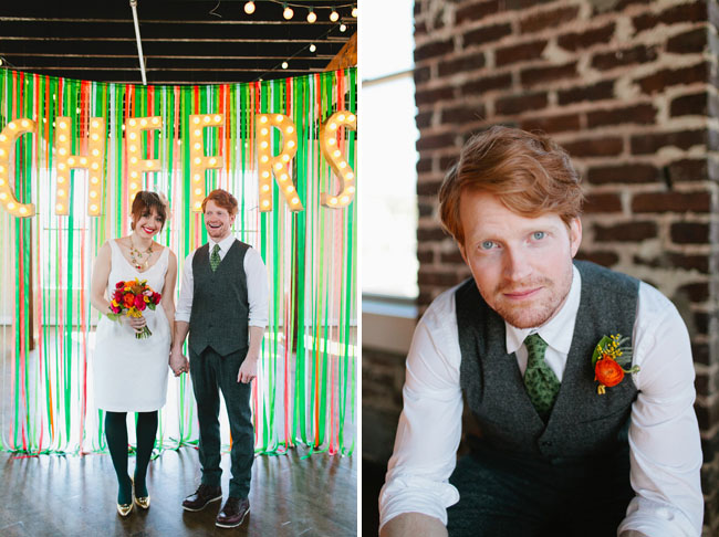 green ribbon backdrop