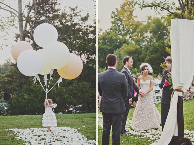 balloon flower girl