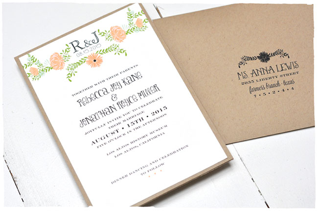 Wedding Invitations By Smitten On Paper A Giveaway Green