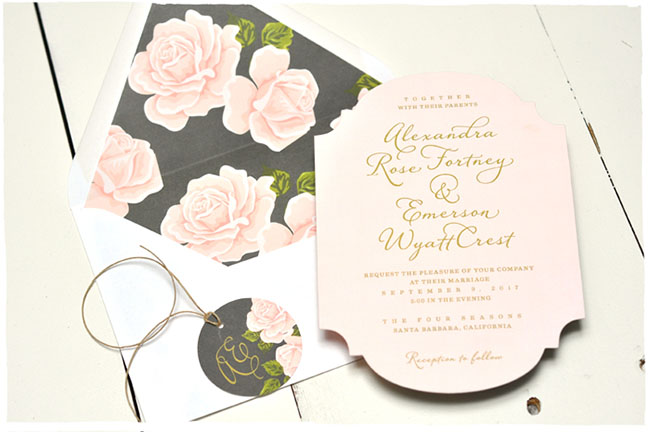 Romance Darling wedding invitations