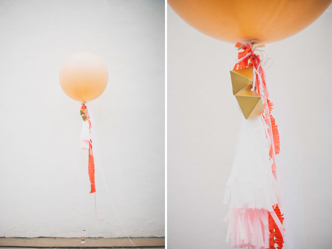 DIY balloon and streamers