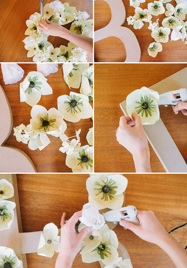 Paper Flower Letters