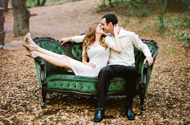 green sofa engagement