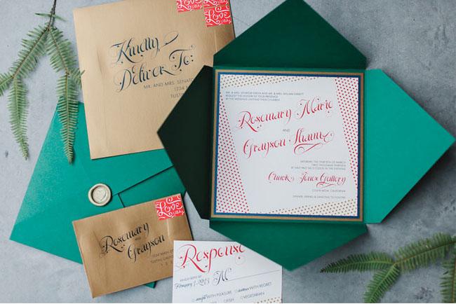 green invitation