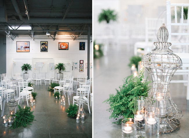 fern ceremony decor