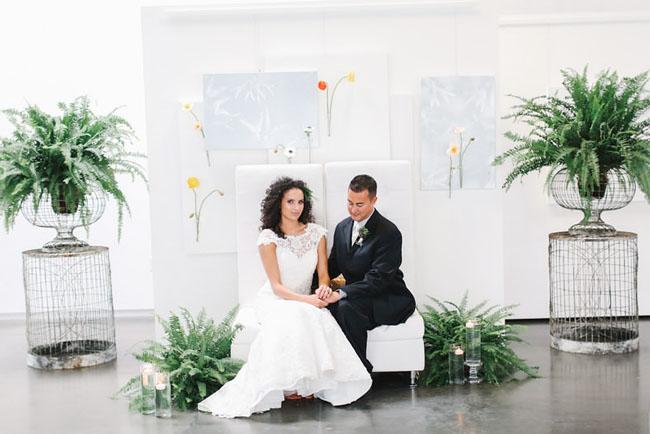 fern ceremony decor
