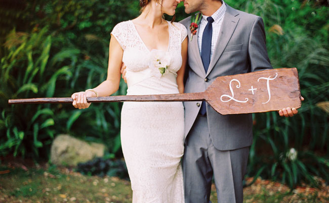 bride and groom oar