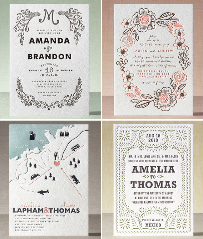 minted letterpress invitations