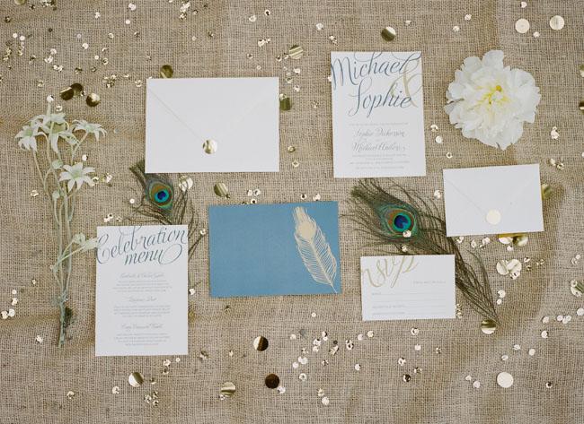 feather invitation
