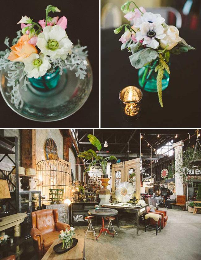 antique store wedding