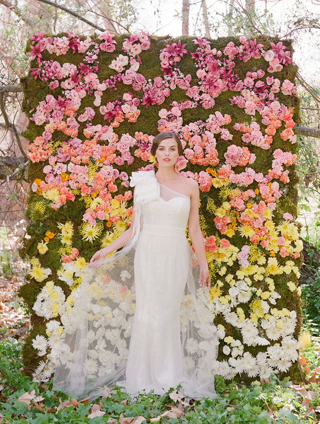 Spring wedding collection from ruche green wedding shoes for How to make a flower wall hanging