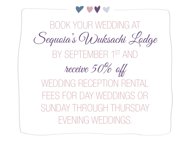 sequoia wedding deal
