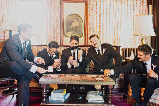 groomsmen mustaches