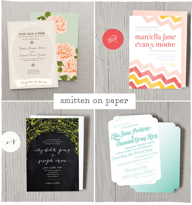 smitten on paper invitations