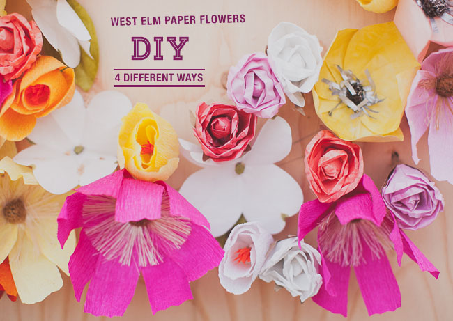 West Elm Paper Flower DIY