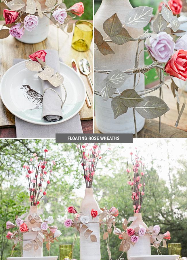 DIY Rose Wreaths