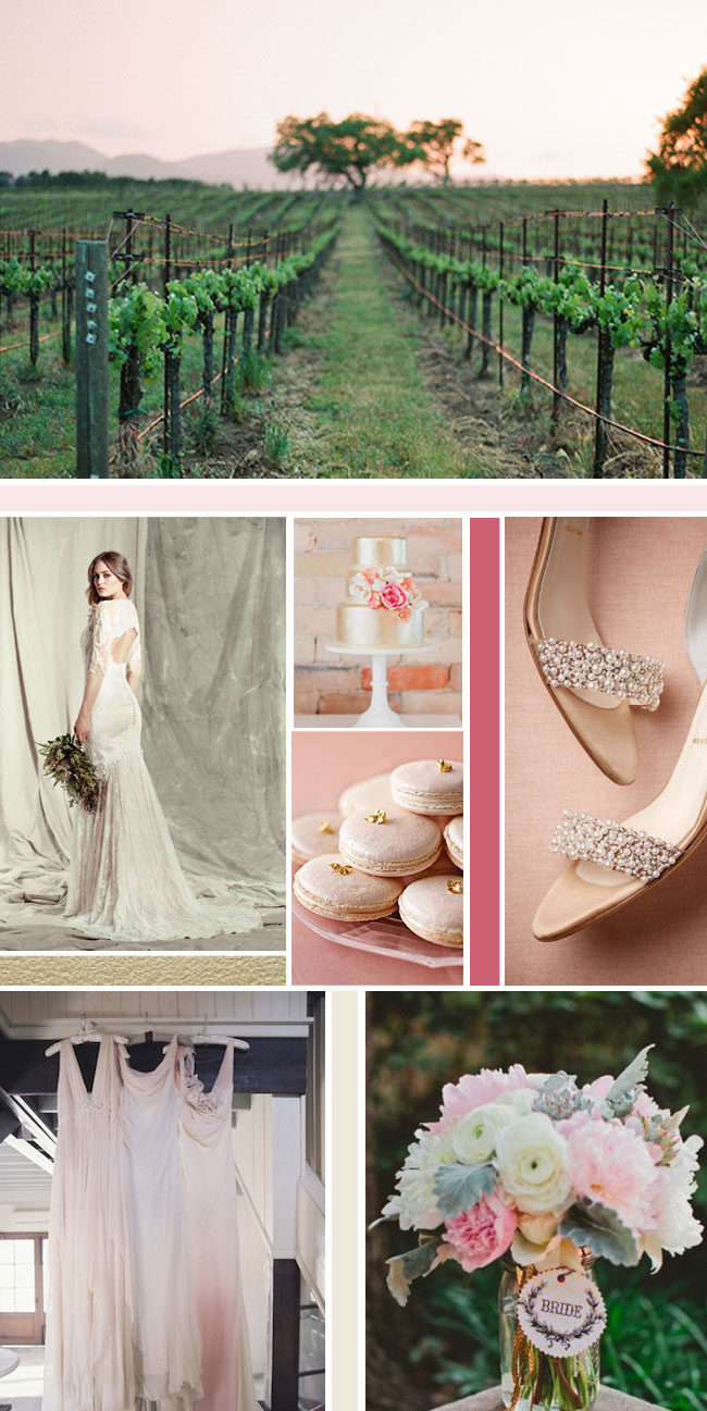 Vineyard Wedding Inspiration Board