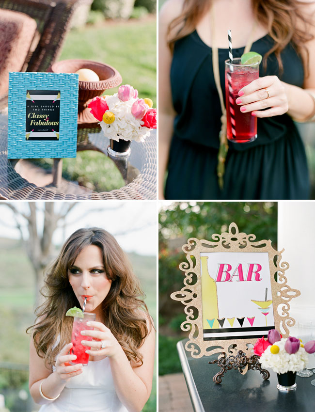 bridal shower bar