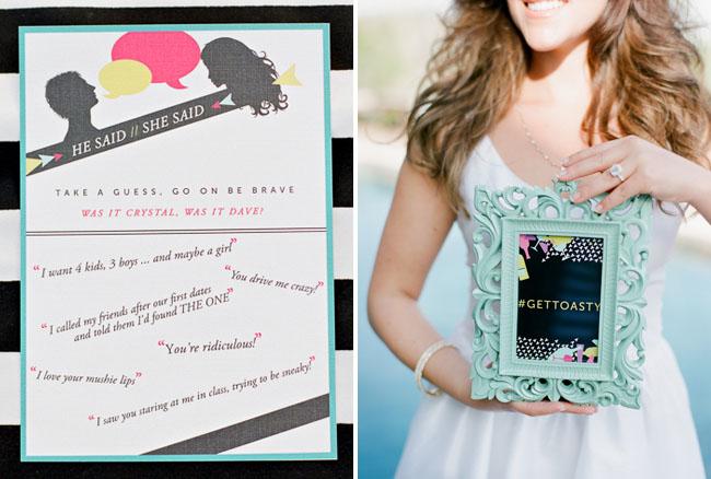 A Little Black Dress Bridal Shower – Gift Card Wedding Shower