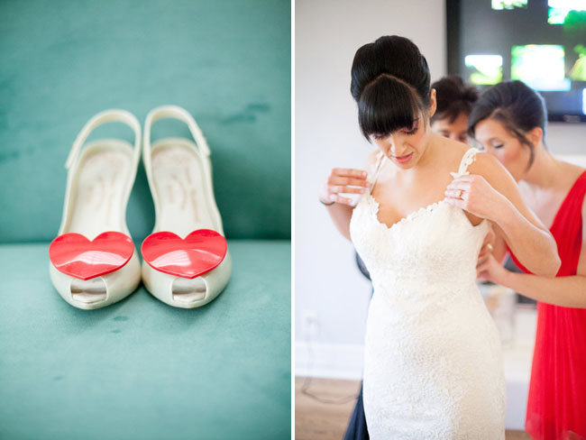 heart bridal shoes